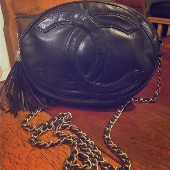 86b3793116310b CHANEL Bags   Cc Logo Lambskin Leather Shoulder Bag Rare   Poshmark